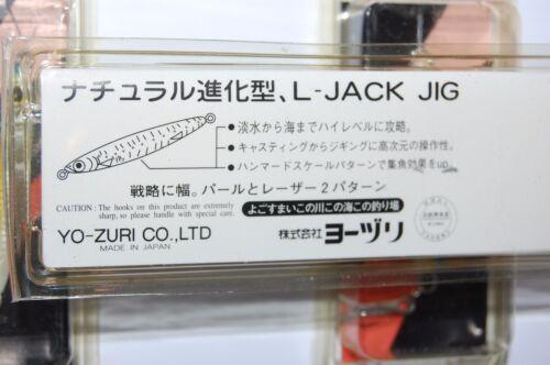 """3 lures jigs yo zuri l-jack jig 12g 7//16oz 2/"""" pearl white blue yellow f219-w96"""