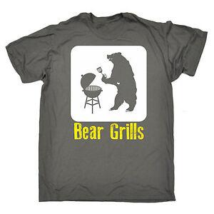 Diseño De Barbacoa Parrillas de oso para hombre Camiseta Camiseta Moda Regalo de Cumpleaños Divertido Barbacoa  </span>