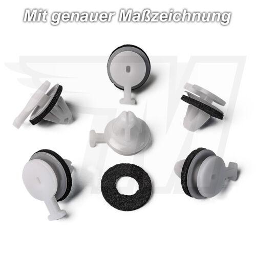 15x Zierleisten Verkleidung Clip Frontscheibe Dichtung für Land RoverLR034389