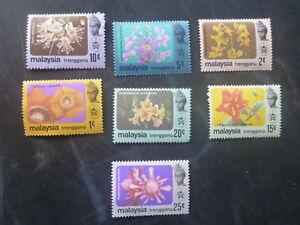 1979-MALAYSIA-STATES-SET-OF-7-ORCHIDS-MINT-STAMPS-MNH-TRENGGANU
