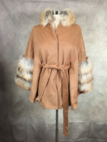 Neva Furs Women's Wool/Cashmere Coat Belted with D