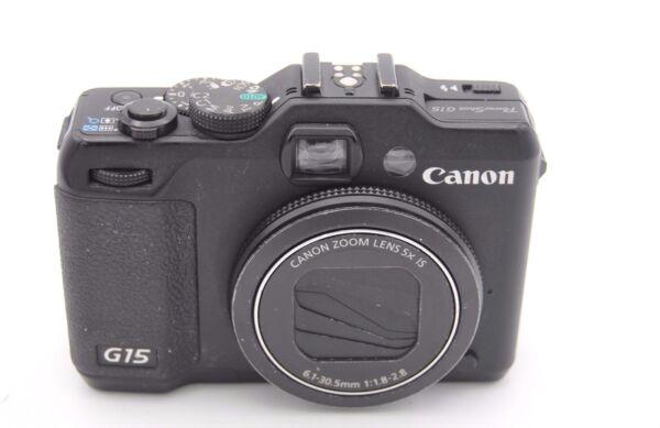 Adaptable Canon Powershot G15 12.1mp Appareil Photo Numérique - Haute RéSilience