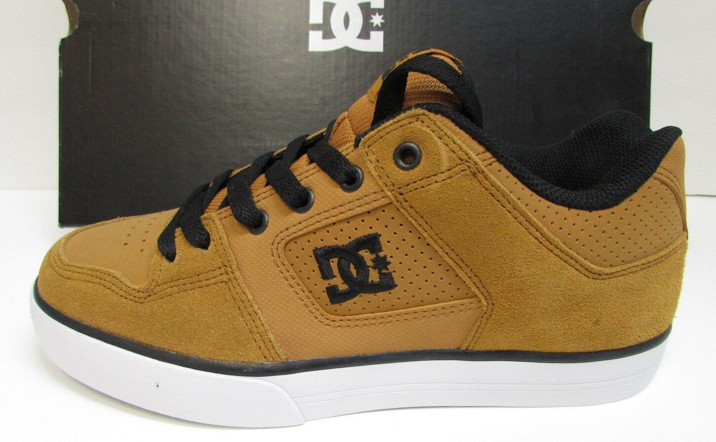 DC SkateBoard Size Size SkateBoard 7.5 Tan Leather Sneakers New Mens Shoes 9909f4