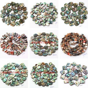 Natural-Multicolor-Abalone-Shell-Gemstone-Beads-For-Jewelry-Making-Strand-15-034