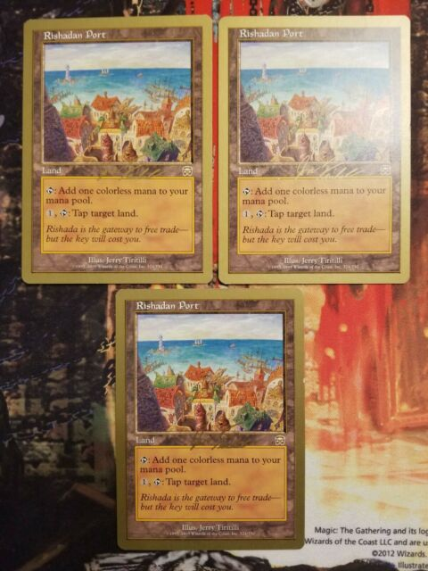 Rishadan Port 3x Magic The Gathering MTG Card - Gold ...
