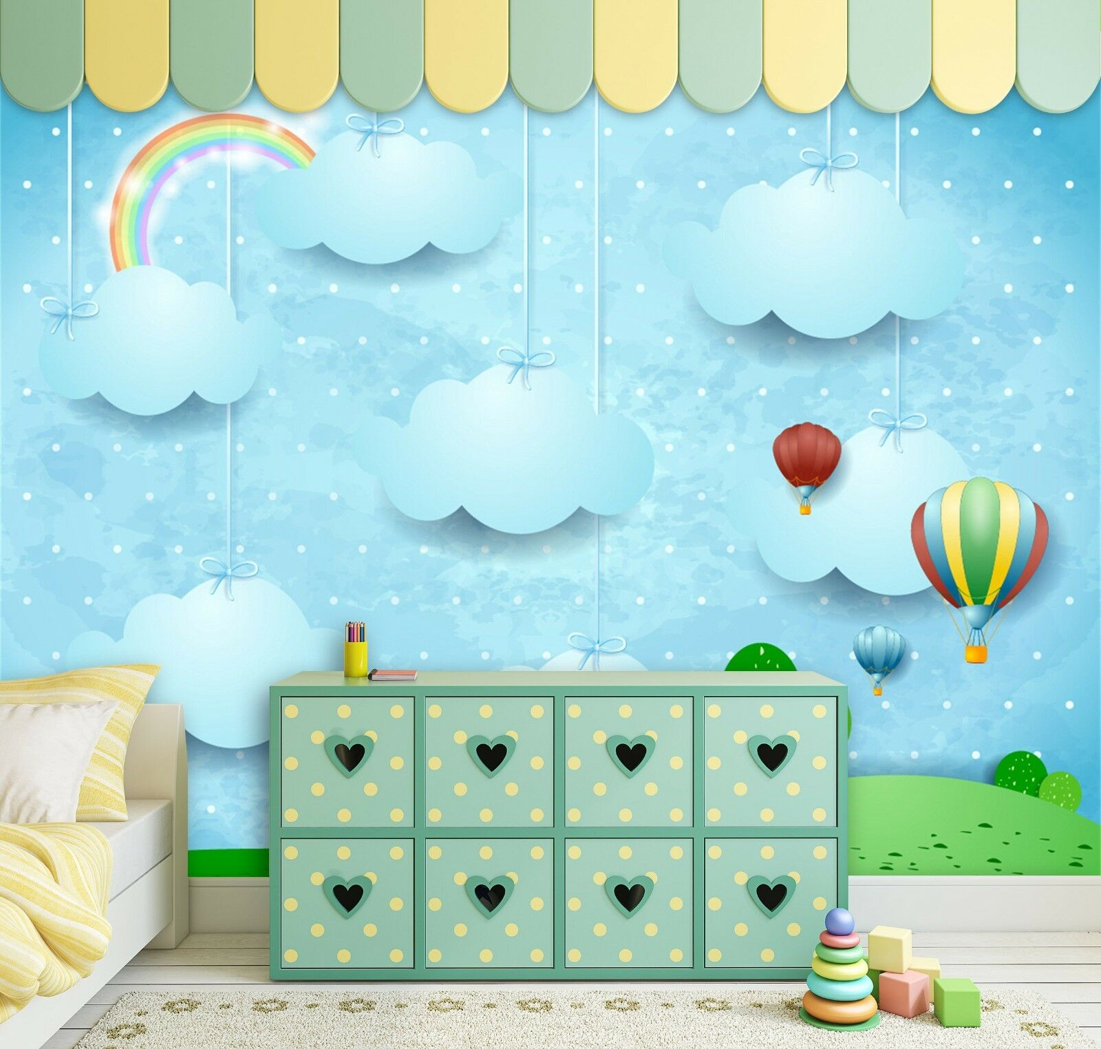 3D Karikatur Wolken Kind 884 Tapete Wandgemälde Tapeten Bild Familie DE Lemon