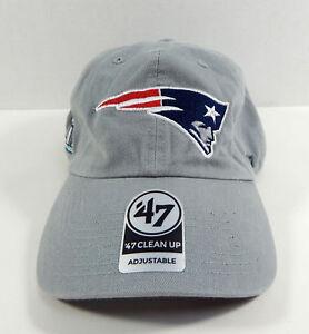 8de76a477 New England Patroits Super Bowl LII  47 Brand Grey Clean Up Hat NWT ...