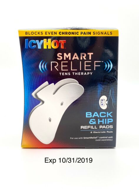 Icy Hot Smart Relief Tens Therapy Back & Hip Refill 2 Reusable Pads Collectible