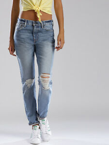 Gamba C Dritta Nuovo 505 Levi's Donna Jeans Slim 24 32 Fit Destroyed t60Yq6x