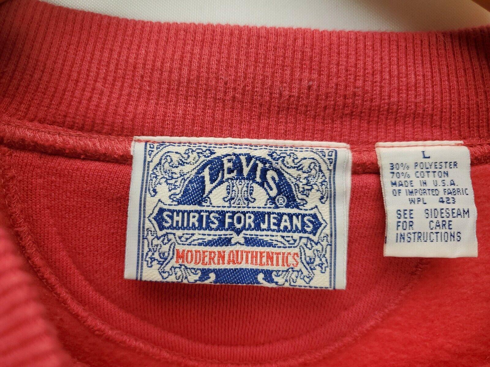 Vintage Levis Big E Sweatshirt Mens Size Large Re… - image 2