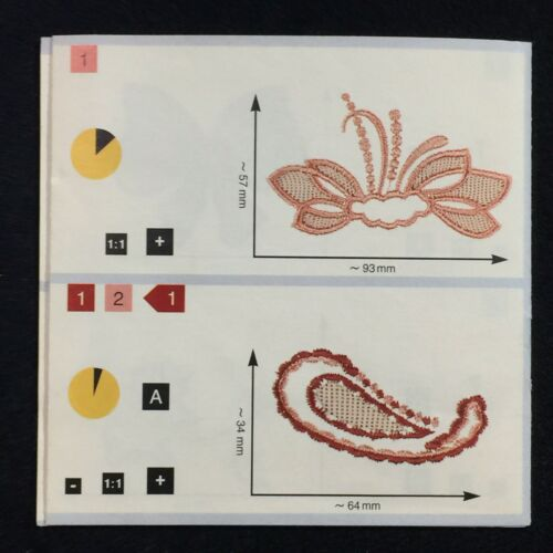 Richelieu Embroidery Designs Card #7 for Pfaff Creative Embroidery Machines