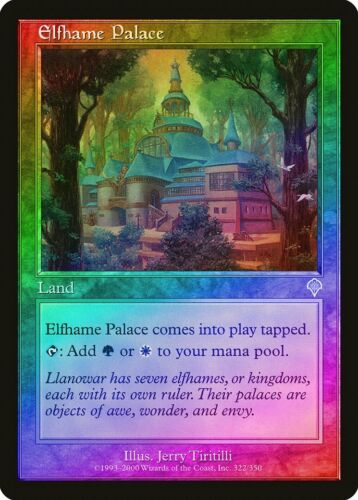 Elfhame Palace FOIL Invasion HEAVILY PLD Land Uncommon MAGIC MTG CARD ABUGames