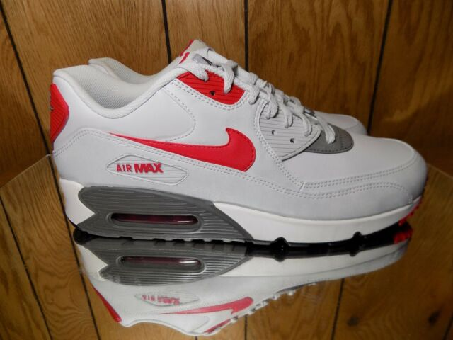 Nike Air Max 90 Essential Shoe Size 13 537384 026 Light Base Greyred Mens
