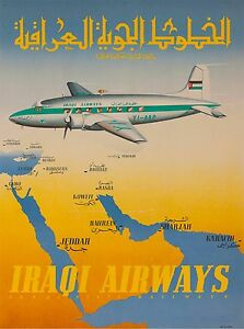 Image Is Loading Iraqi Airways Baghdad Iraq Vintage Airline Airplane Travel
