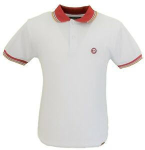 Trojan Records Blanc Bordure Contrastée Polo Shirt-afficher Le Titre D'origine