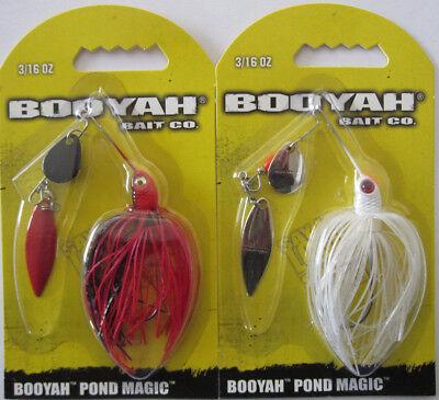 Lot 3 Booyah Fish Bait BYPM36650 Pond Magic 3//16oz Spinner Fish Bait Shad White