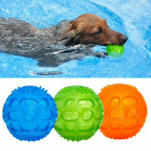 Durable Rubber Pacifier Squeaky Pet Dog Cat Puppy Chew Toys Ball with Bell Sound