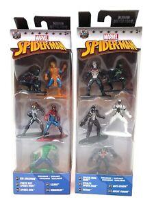 10 Minifigs Total New Jada Marvel Nano Metalfigs Spider-Man and Venom 5 Packs