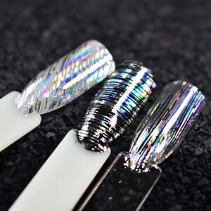 Nail-Art-Foil-Stripe-Line-Silver-Laser-Nail-Transfer-Sticker-for-UV-Gel-100x4