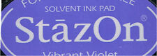 INK PAD - STAZON SOLVENT INK PAD - VIBRANT VIOLET
