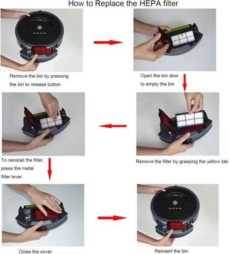 8 Pcs Parts Accessories For Irobot Roomba 800//900 Series Robotic Vacuum Cleaner