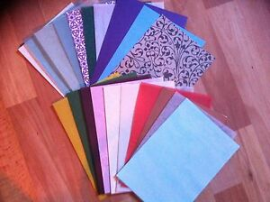 CLEAROUT-20-x-A5-SHEETS-OF-MIXED-PEARL-VELLUM-CARD-PAPER-PATTERENED-PLAIN