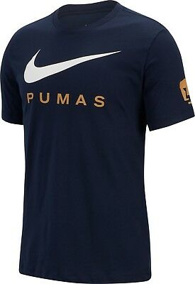 new products 2aeaa f5440 Nike UNAM Pumas 2018 - 2019 Poly Crest Soccer Swoosh Shirt ...