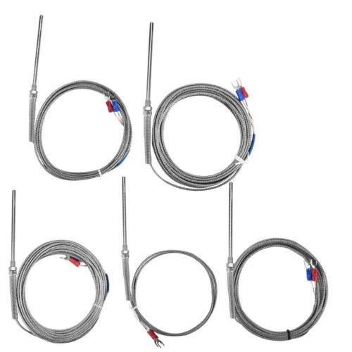 M8 Thread Type K Thermocouple 50mm Probe Temperature Sensor Cable Wire 0-400℃