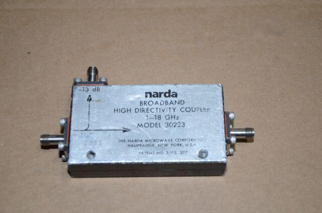 Narda 4203-16 Microwave RF Directional Coupler; 2-18GHz 16dB coupling F SMA