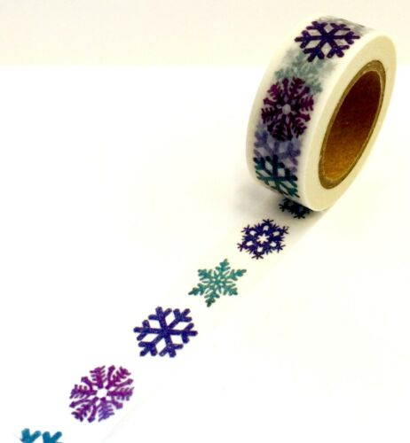 Snowflakes Holiday Washi Papercraft Planner Supply Envelope Cards Seal Xmas