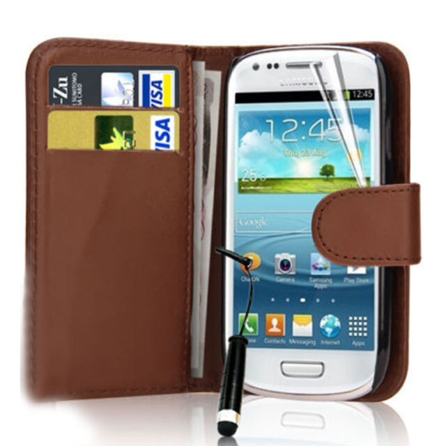 Folio Flip Wallet Leather New Case Cover For Various Samsung Galaxy Mobile Phone