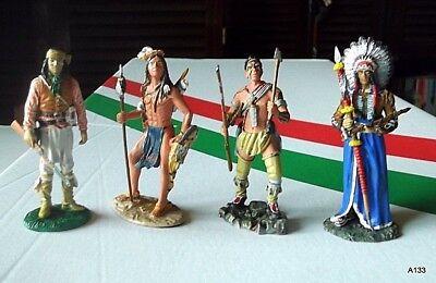 Acquista A Buon Mercato 4 Soldatini Di Piombo, Indiani Varie Tribu'.