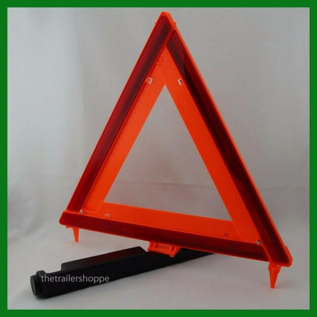 Deflecto Early Warning Road Safety Triangle Kit Reflective 3 Pack Ebay
