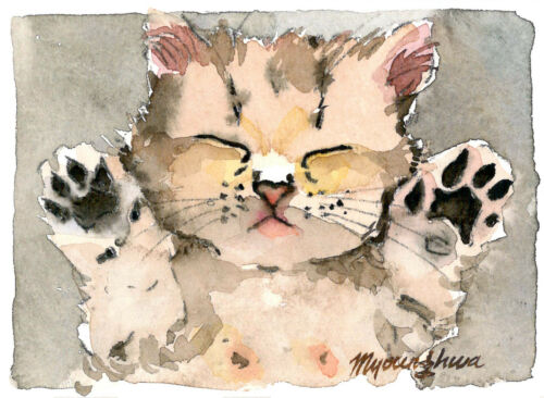 Cute kitty Gift for animal lovers ACEO Limited Edition Cute cat