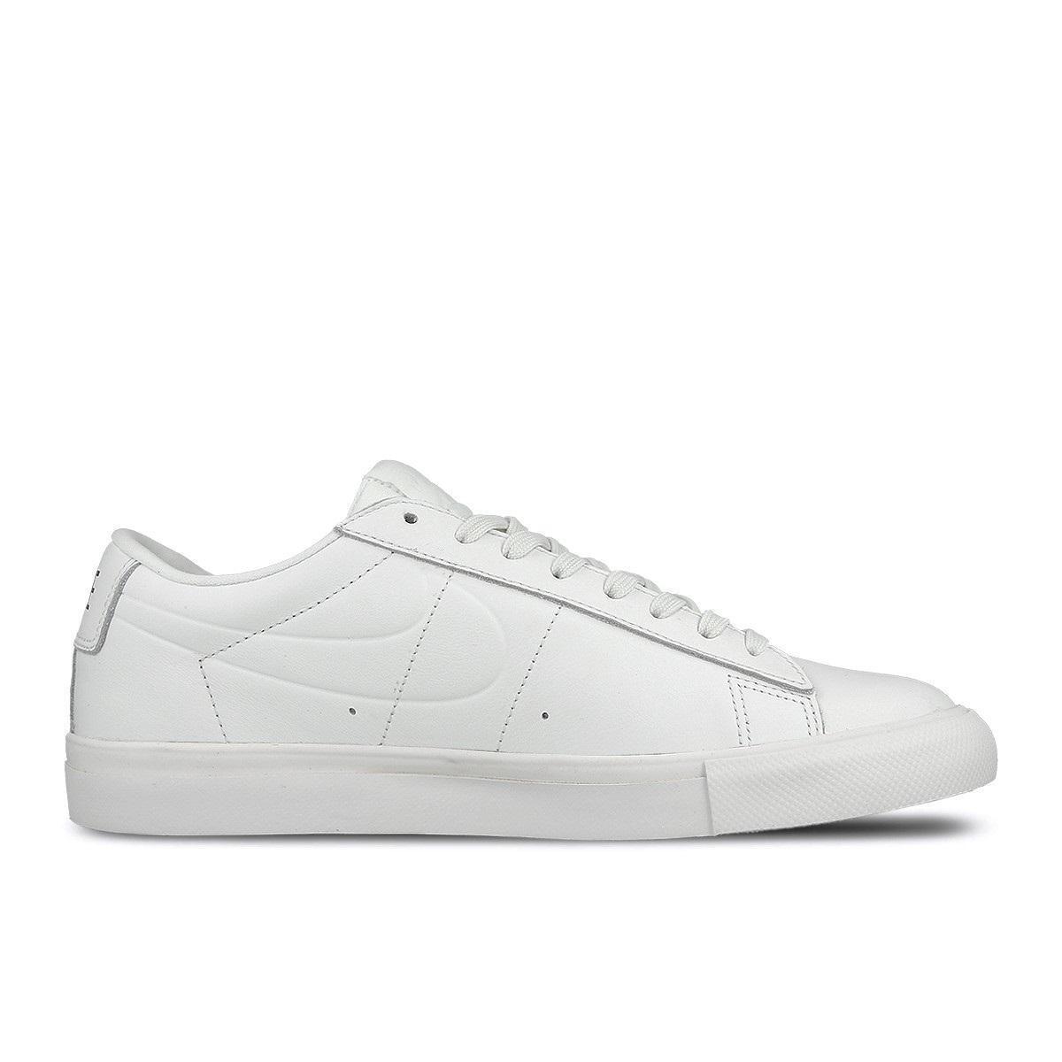 Homme Nike Blazer Faible Cuir Blanc paniers 371760 109