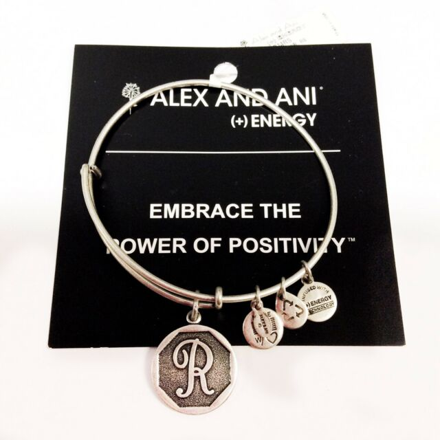 0d6f29ee4eb NEW Alex and Ani Bangle Charm Bracelet Letter Initial
