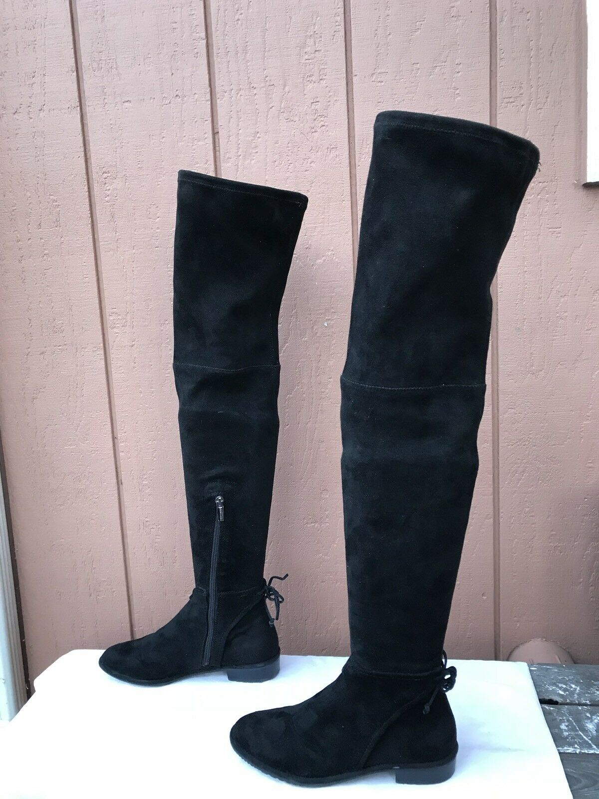 EUC  198 VINCE CAMUTO CAMUTO CAMUTO 'Caddea' Over the Knee Black Boots US 6M EUR 36 bcd5fc