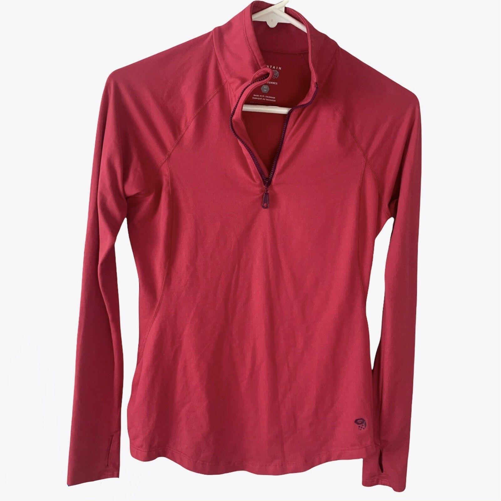 Mountain Hardwear women's butter zippity top Size XSmall soft feel thumb holes