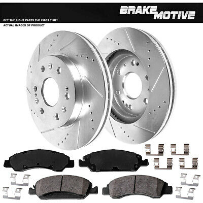 Front+Rear Rotor Metallic Pads For Chevy Express Suburban Tahoe Escalade Sierra