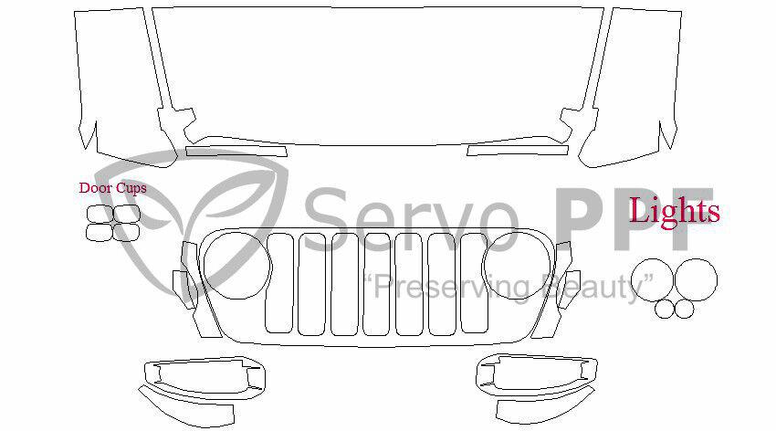 Vorgeschnittene 3M pro Serie Transparent Bh Set 18 + Jeep Wrangler