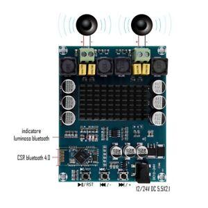 AMPLIFICATORE-2X120W-BLUETOOTH-4-0-12-24Vdc-XH-M548-CHIP-TPA3116D2