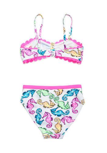 FLAPDOODLES Toddler Girls/' 2T 4T Seahorse Print 2-Piece Bikini Swim Set NWT