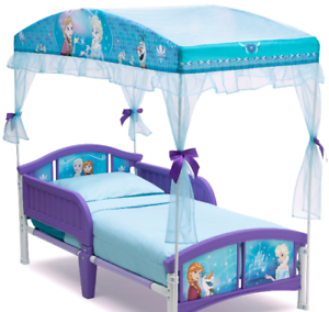 Image Is Loading Disney Frozen Canopy Toddler Bed Set Princess Room