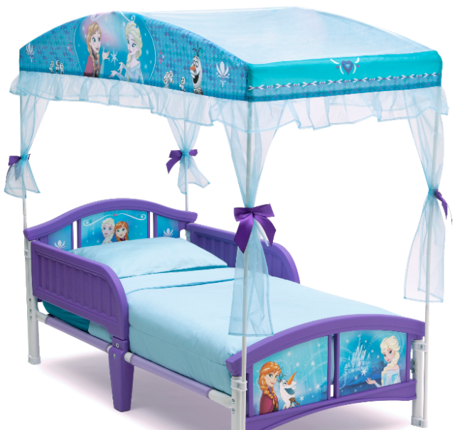 Disney Frozen Canopy Toddler Bed Set Princess Room Furniture Girls Bedroom  NEW