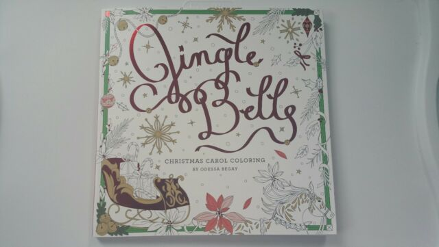 jingle bells christmas carol coloring adult christmas coloring book new