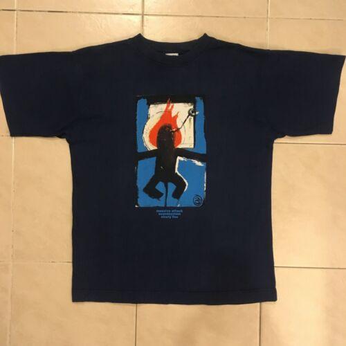 MASSIVE ATTACK 3D Artwork T-Shirt - Mo Wax Headz 9