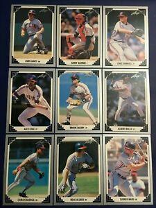 1991-Leaf-CLEVELAND-INDIANS-Complete-Team-Set-18-ALOMAR-BELLE-Sharp-LOOK