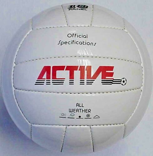 Soccer balls hand stitched 18 panel Multicraft Active White Size 3 /& 4 lot of 5
