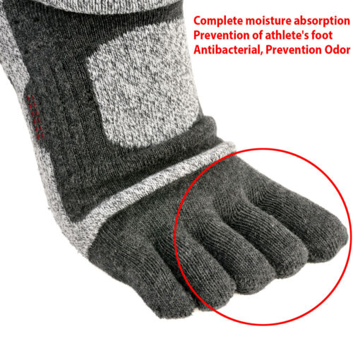 Mens Sports Compression Running Hiking Anti-Blister Cool Five Finger 5 Toe Socks