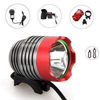 5000Lm XM-L T6 LED Head Bicycle Bike Light Headlight Torch 6x18650+Rear Light
